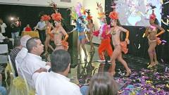 Los Soberanos del Carnaval Cancún 2013 hicieron una presentación dancística.