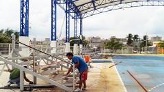 El Domo Azul de Isla Mujeres se distingue por ser uno de los más grandes del estado, con capacidad para realizar actividades deportivas o artísticas, de talla municipal, estatal y nacional.