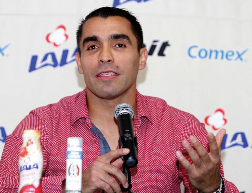 Marco Antonio Rodríguez, en la conferencia de prensa donde anunció su retiro como árbitro activo.